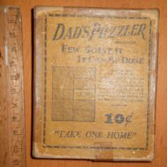 JOC DE COLECTIE INTERBELIC DAD'S PUZZLER ( USA )