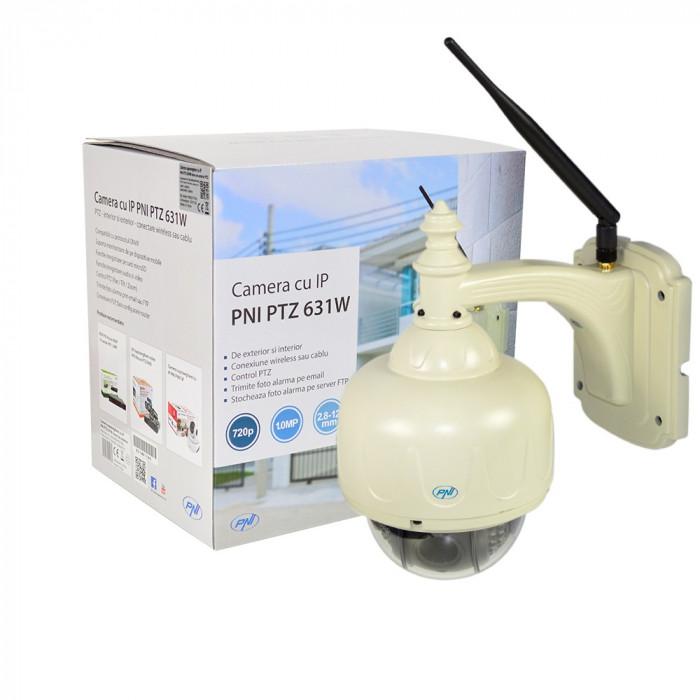 Resigilat : Camera supraveghere video PNI 631W dome cu IP de exterior cu PTZ si co