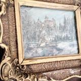 """Tablou vechi - Pictura """" Castelul Bran """" - Pictura in ulei - Semnat - Tablou autor neidentificat, Scene gen, Altul"""