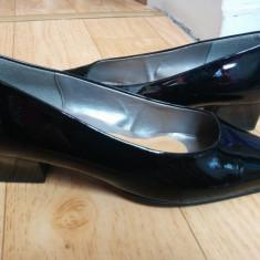 Pantofi din piele firma Gabor marimea 39, sunt noi! - Pantof dama Gabor, Culoare: Negru, Piele naturala