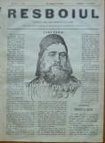 Ziarul Resboiul , nr. 22 , 1877 , gravura ; Avdi Pasa
