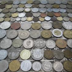 Lot mare de 159 monede diferite vechi romanesti si straine monezi bani diverse - Moneda Romania