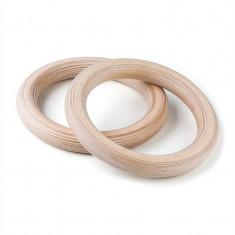 CAPITAL SPORTS RINGPR, inele de gimnastică din lemn, 32 mm - Benzi magnetice