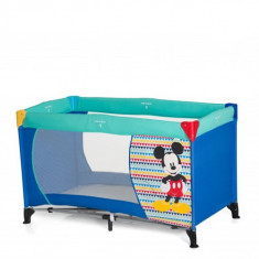 Pat Voiaj Dream and Play Mickey Geo Blue - Patut pliant bebelusi Hauck