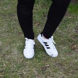 Adidasi dama Hy Black, Culoare: Alb, Marime: 37, Piele sintetica