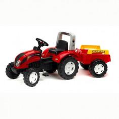 Tractor Ranch Rosu cu Remorca Falk