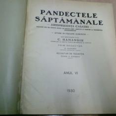 PANDECTELE SAPTAMANALE - 1930 - Carte Jurisprudenta