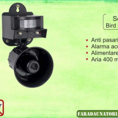 Pestmaster Sonic Birdchaser - Dispozitiv cu alarma acustica (400 mp) - Porumbei