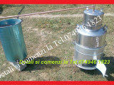 Cazan pt Tuica,de 60 de litri+Serpentina+Vas pt apa+Soba+Paleti de amestecat