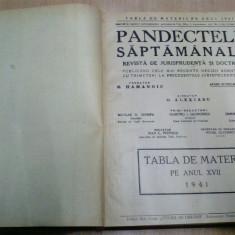 PANDECTELE SAPTAMANALE - 1941 - Carte Jurisprudenta