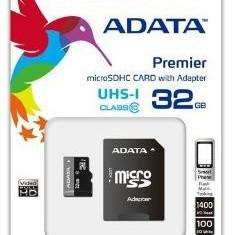 Card memorie Adata micro SDHC UHS-I 32GB + adaptor SDHC AUSDH32GUICL10-RA1 - Memorie RAM laptop