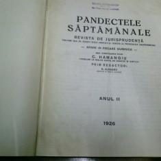 PANDECTELE SAPTAMANALE - 1926 - Carte Jurisprudenta