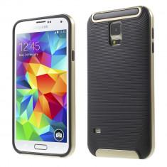 HUSA HYBRID SAMSUNG GALAXY S5 - BONUS FOLIE ECRAN - Husa Telefon Samsung, Auriu