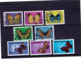 Djibouti - set fluturi stampilata + Dominica necomplet, Natura, Africa