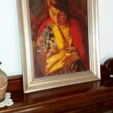 Tablou autentic Ipolit Strambu - Pictor roman, Portrete, Ulei, Impresionism