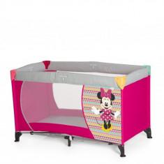 Pat Voiaj Dream and Play Minnie Geo Pink - Patut pliant bebelusi Hauck