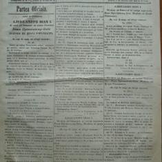 Principatele Unite , Monitorul oficial al Moldovei , Iasi , nr. 348 , 1861
