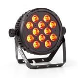 BEAMZ BT300, 12X12W, reflector FLATPAR, LED RGBAW 6 în 1, DMX, telecomandă IR - Masina de fum