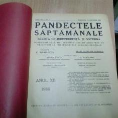PANDECTELE SAPTAMANALE - 1936 - Carte Jurisprudenta