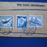 TIMBRE GERMANIA PE FRAGMENT DE HIRTIE, Stampilat
