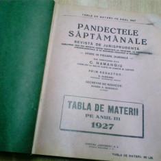 PANDECTELE SAPTAMANALE - 1927 - Carte Jurisprudenta
