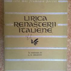 Lirica renasterii italiene {Col. Cele mai frumoase poezii} - Carte poezie