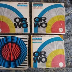 BENZI MAGNETOFON, 4 bucati cu muzica .BANDA ORWO / 540