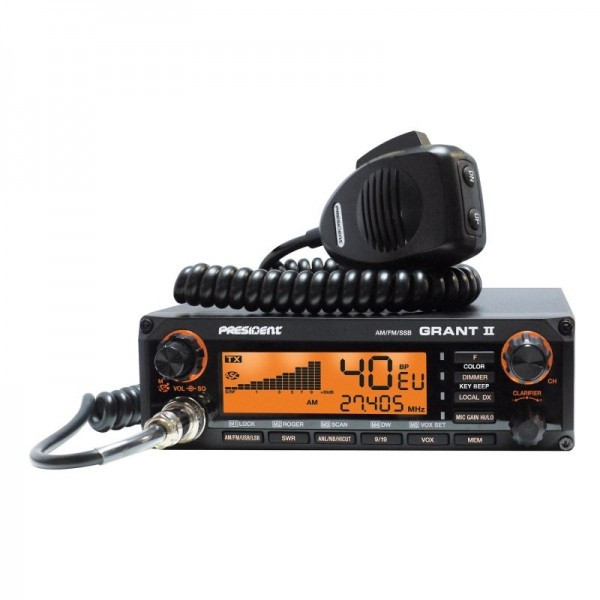 Statie radio CB President Grant II ASC, AM/FM/SSB cu squelch automat cod TXMU510 foto mare