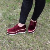Pantofi dama Shelba Bordo