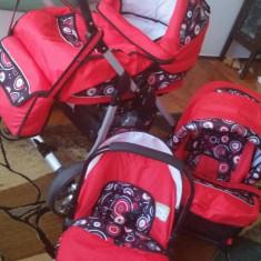 Carucior Kerttu 3in1 street bebe - Carucior copii 3 in 1 Kerttu, Rosu
