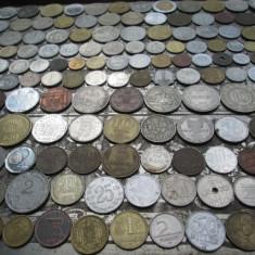 Lot mare de 163 monede diferite vechi romanesti si straine monezi bani diverse - Moneda Romania