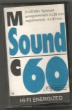 A(02)  Caseta audio-M Sound c60 HI-FI ENERGIZED