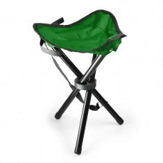 Scaun portabil pentru tabără, pescuit, 500g, verde-negru - Mobilier camping