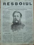 Ziarul Resboiul , nr. 32 , 1877 , gravura ; Generalul Radetzchi Teodorovici