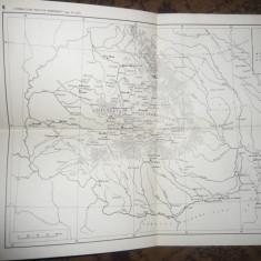 Harta Formatiunilor politice Romanesti sec XI- XIII, dim.= 33x24, 7cm