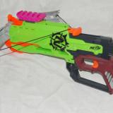 Pusca NERF Zombie Strike Crossfire Bow - Pistol de jucarie Hasbro, 4-6 ani, Plastic, Unisex