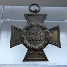 Decoratie Crucea Hindenburg 1914-1918 Primul Razboi Mondial