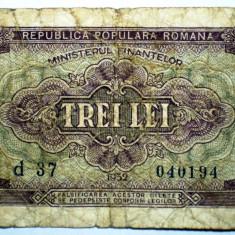 218 ROMANIA RPR 3 LEI 1952 SR. 194