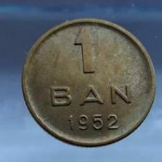Moneda 1 ban 1952 Romania RPR luciu de batere monede romanesti numismatica - Moneda Romania