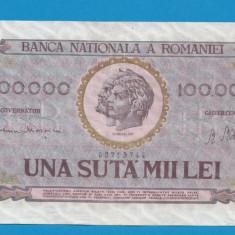 100000 lei 1947 8 - Bancnota romaneasca