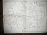Harta Tarii Romanesti ,Moldova si Transilvania sec.XIV-XVI , dim.= 40x30 cm