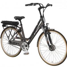 Bicicleta electrica cu cadru Aluminiu ZT-79 LETIZIA N3, 20 inch, 28 inch, Numar viteze: 3, Gri-Alb