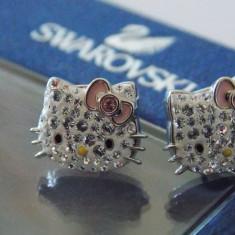 Cercei Swarovski Hello Kitty - Cercei Fashion
