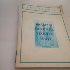BRANCUSI IMPOTRIVA STATELOR UNITE. STENOGRAMA PROCESULUI VAMAL DE LA NEW YORK - Carte Istoria artei