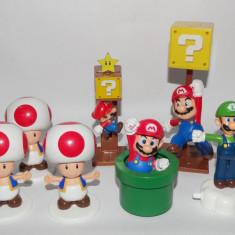 Lot colectie 7 figurine Nintendo - Mario - Luigi - Toad - Miniatura Figurina