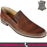 PANTOFI BARBATI PIELE NATURALA, DORIAN, MARO TABAC (Marime: 43) - Pantof barbat
