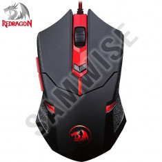 **NOU**Mouse Gaming Redragon Centrophorus Black, 2000 dpi, 4000 FPS...GARANTIE!, Optica, 1000-2000