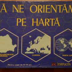 SA NE ORIENTAM PE HARTA - JOC VINTAGE DE COLECTIE 1976 - Joc colectie