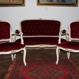 Salonas francez deosebit compus din canapea si 2 fotolii