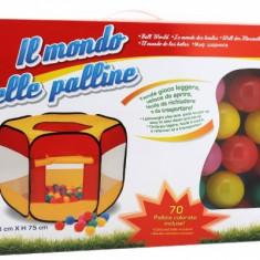 Spatiu De Joaca Cort Cu 70 Bile Multicolore Globo Pentru Copii - Casuta copii